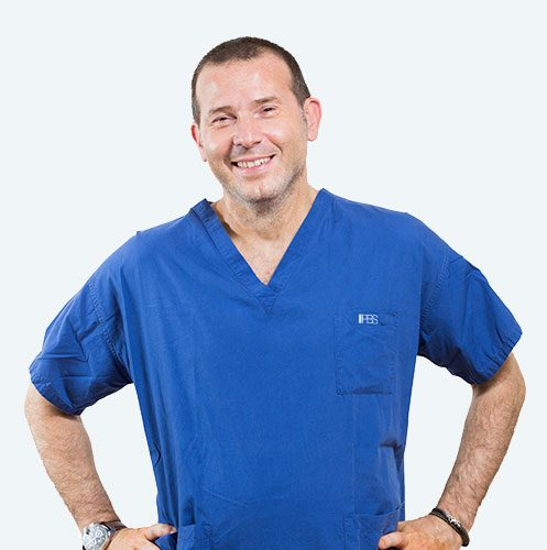Dr. Alfio Azzarà, surgeon specialising in the PBS technique to treat hallux valgus.