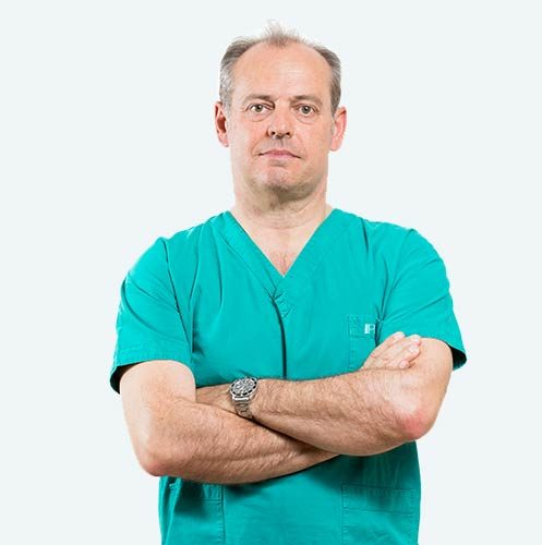 Dott. Michele Risi, surgeon specialising in the PBS technique to treat hallux valgus.